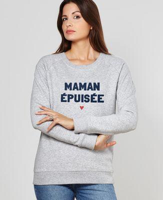 Sweatshirt femme Maman épuisée