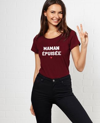 T-Shirt femme Maman épuisée
