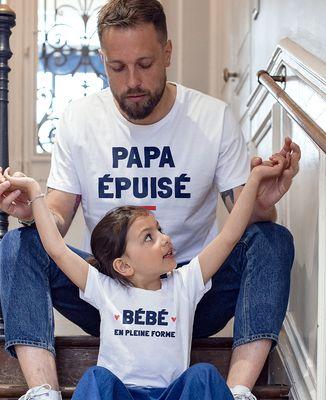 T-Shirt homme Papa épuisé
