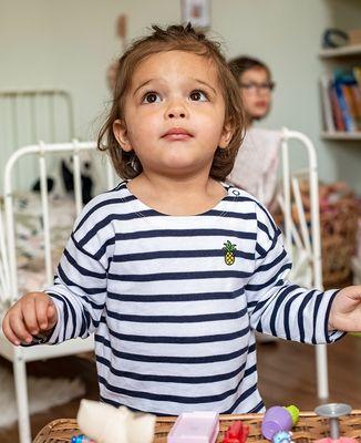 T-Shirt bébé Ananas (brodé)