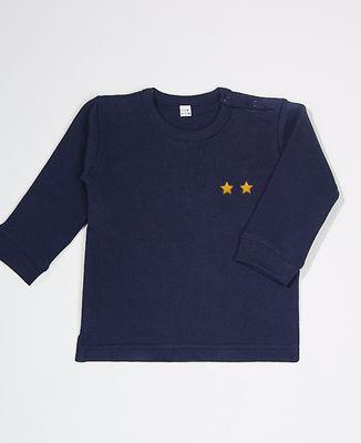 Sweatshirt bébé Deux étoiles (brodé)