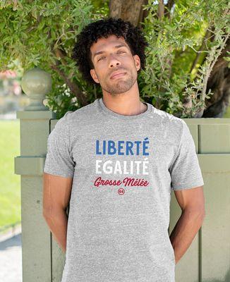 T-Shirt homme Liberté égalité grosse mêlée