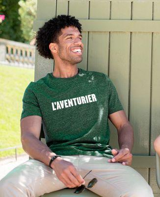 T-Shirt homme L'Aventurier (effet velours)