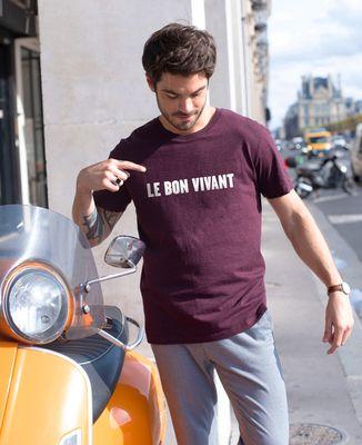 T-Shirt homme Le Bon Vivant (effet velours)