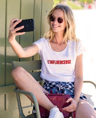 T-Shirt femme L'Influenceuse (effet velours)