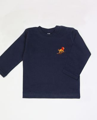 T-Shirt bébé Lion rocher (brodé)