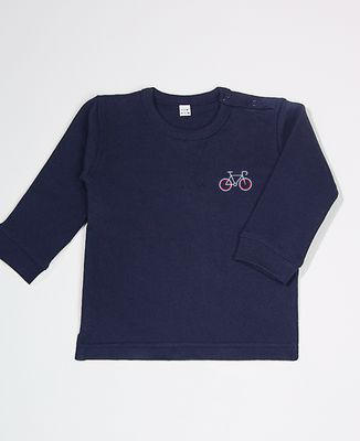 Sweatshirt bébé Vélo tricolore (brodé)