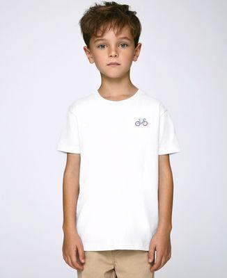 T-Shirt enfant Vélo tricolore (brodé)