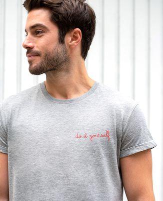 T-Shirt homme Brodé personnalisé à manches retroussées