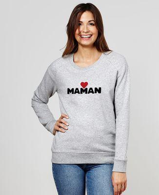 Sweatshirt femme Maman grand coeur