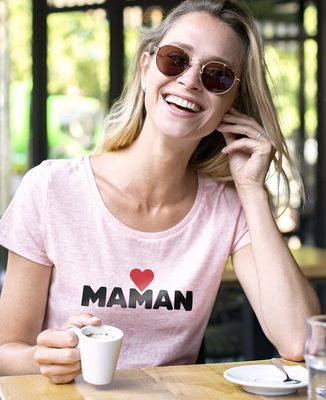 T-Shirt femme Maman grand coeur