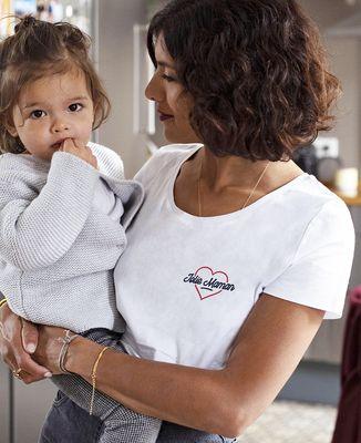 T-Shirt femme Jolie maman (brodé)