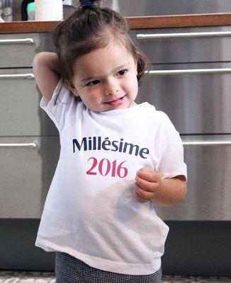 T-Shirt bébé Millésime personnalisé