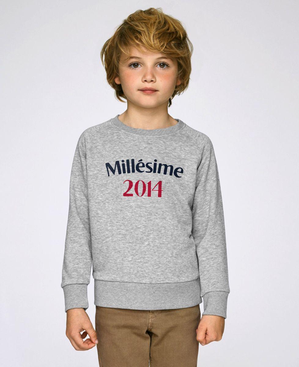 Sweatshirt enfant Millésime personnalisé