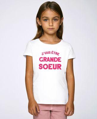 T-Shirt enfant J'vais être grande soeur