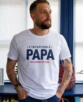 T-Shirt homme L'incroyable papa personnalisé