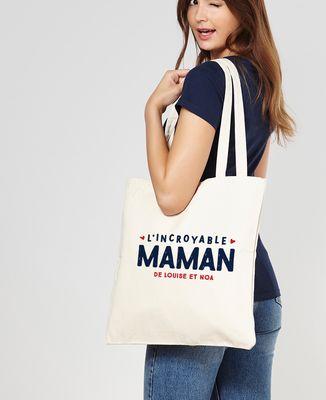 Tote bag L'incroyable maman personnalisé