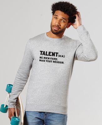 Sweatshirt homme Talent définition