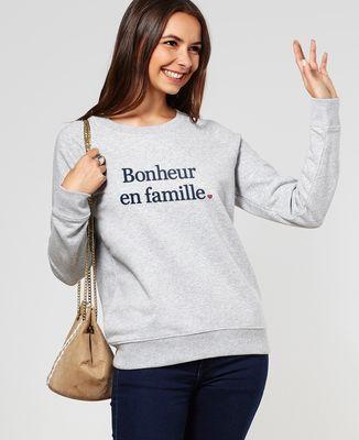 Sweatshirt femme Bonheur en famille