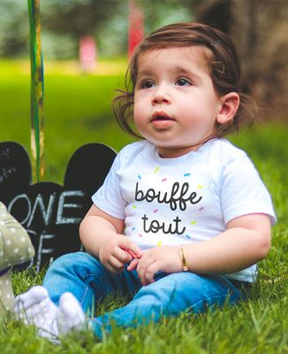 T-Shirt bébé Bouffe tout