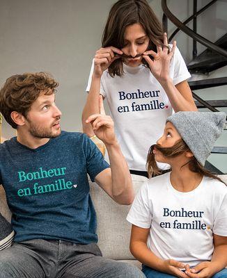 T-Shirt enfant Bonheur en famille