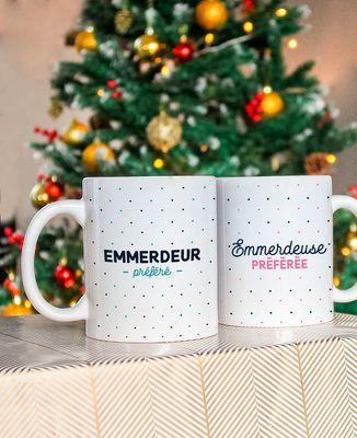 Coffret Cadeau Noël Emmerdeur préféré + Emmerdeuse préférée