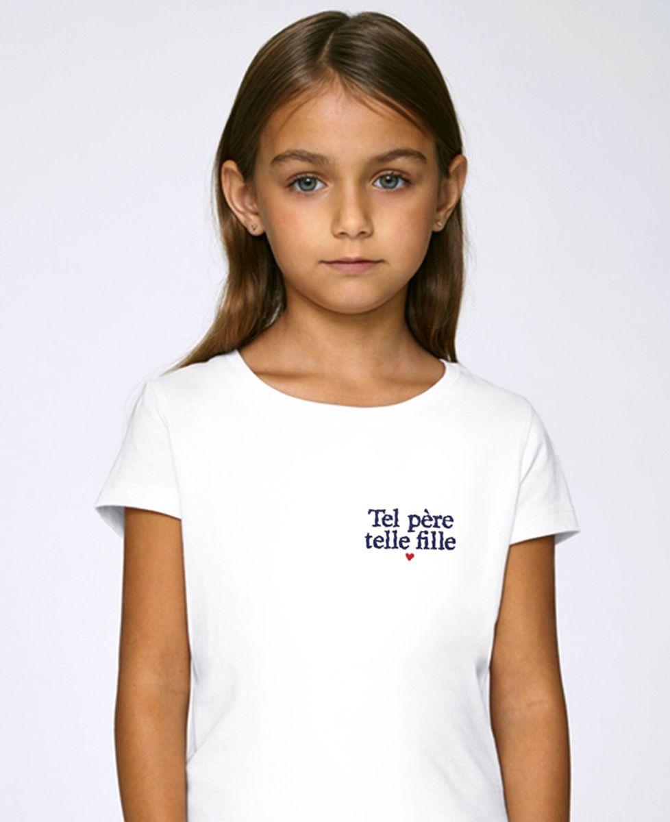 T-Shirt enfant Tel père telle fille (brodé)