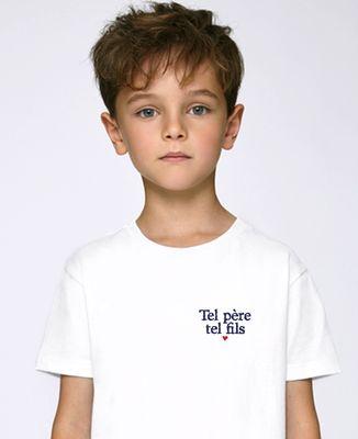 T-Shirt enfant Tel père tel fils (brodé)