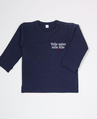 Sweatshirt bébé Telle mère telle fille (brodé)