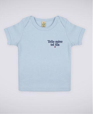 T-Shirt bébé Telle mère tel fils (brodé)