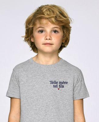 T-Shirt enfant Telle mère tel fils (brodé)