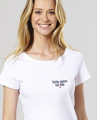 T-Shirt femme Telle mère tel fils (brodé)