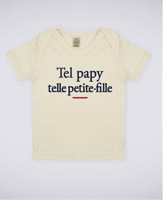T-Shirt bébé Tel papy telle petite-fille