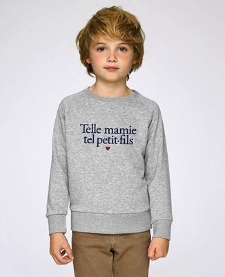 Sweatshirt enfant Telle mamie tel petit-fils