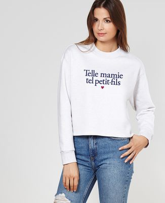 Sweatshirt femme Telle mamie tel petit-fils
