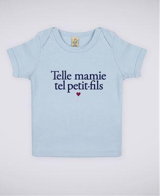 T-Shirt bébé Telle mamie tel petit-fils