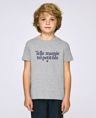 T-Shirt enfant Telle mamie tel petit-fils