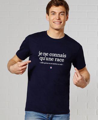T-Shirt homme Je ne connais qu'une race