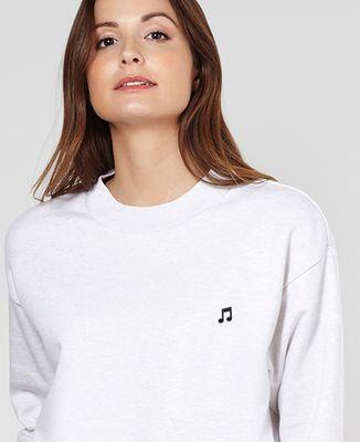 Sweatshirt femme Note de musique (brodé)