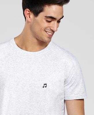 T-Shirt homme Note de musique (brodé)