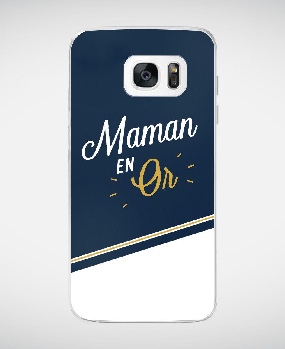 Coque smartphone Maman en Or