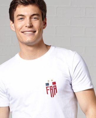 T-Shirt homme Drapeau France Deux étoiles