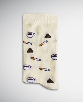Chaussettes homme Café clope caca