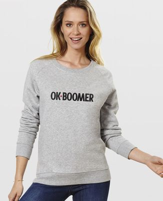 Sweatshirt femme Ok boomer