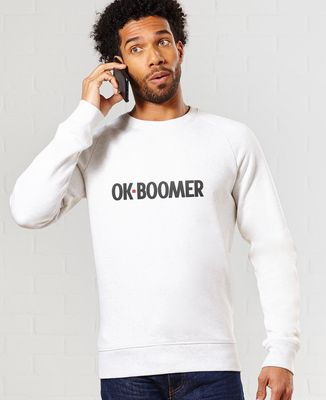 Sweatshirt homme Ok boomer