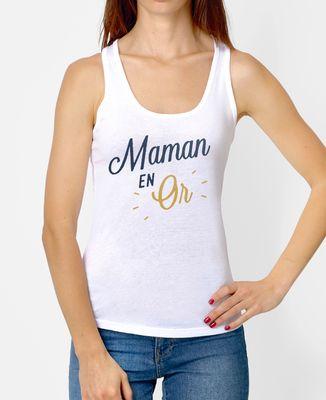 Débardeur femme Maman en Or