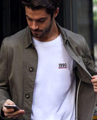 T-Shirt homme Année brodée personnalisé