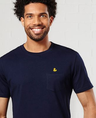 T-Shirt à Poche Canard jaune (brodé)
