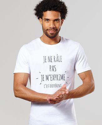 T-Shirt homme Je ne râle pas je m'exprime