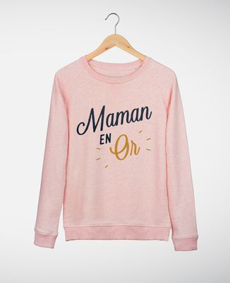 Sweatshirt femme Maman en Or